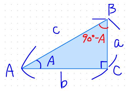 90-Aの三角比