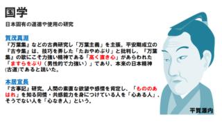 【高校倫理】国学思想(江戸時代の思想)の重要ポイント