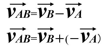 平面上の相対速度1