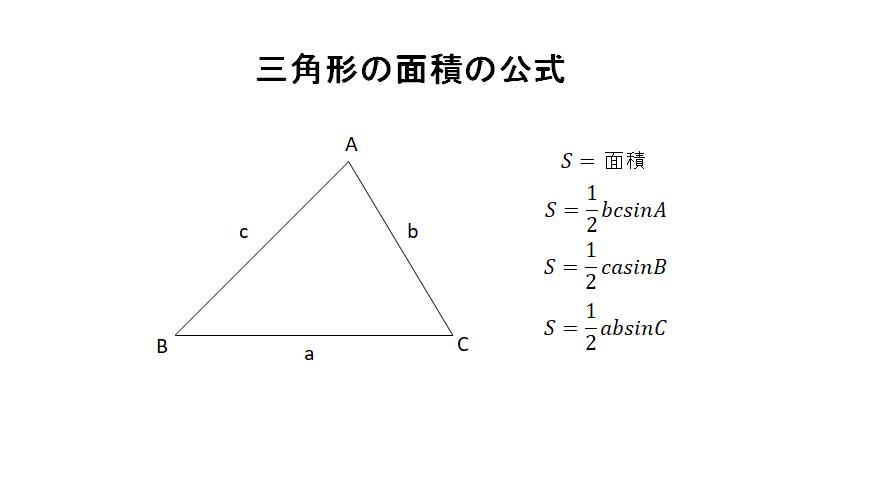 三角形の面積の公式