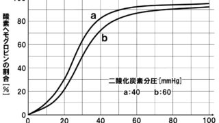 生物基礎「ヘモグロビンによる酸素運搬」酸素解離曲線の読み方